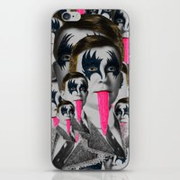 kiss iPhone & iPod Skins featuring kiss by DIVIDUS