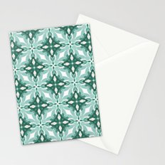 Watercolor Green Tile 2 Stationery Cards