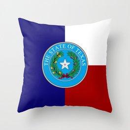 Texas Seal Throw Pillow