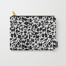 Alphabet Compendium Letter Silhouette Pattern Carry-All Pouch