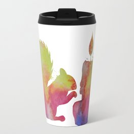 Squirrel and a candle Travel Mug