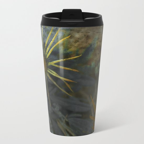 Abstract Flowers on my way - Flores abstractas en mi camino Metal Travel Mug