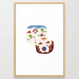 Overworld: Beach Framed Art Print