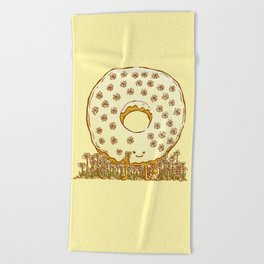 In Bloom Donut Beach Towel