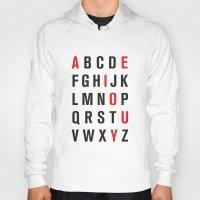 alphabet Hoodies featuring Alphabet by Eric Huecker