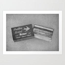 Swallow Brand Rosin Art Print