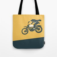 grease Tote Bags featuring jump by The Junkers