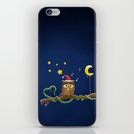 Little Owl - Christmas Time iPhone Skin