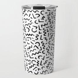 Hand Drawn Pattern Travel Mug