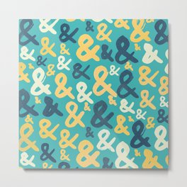 Ampersand Pattern Metal Print