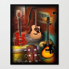 The Guitar Collage Canvas Print