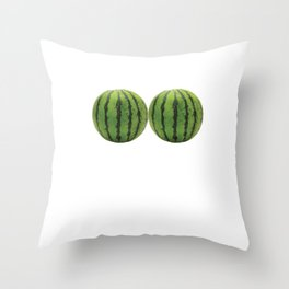 I Have Got the Melons Graphic Funny T-shirt Throw Pillow