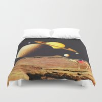 western Duvet Covers featuring Western Space by Mariano Peccinetti