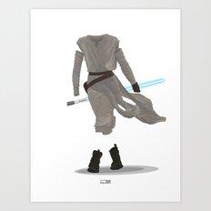 Rey - The Force Awakens Art Print
