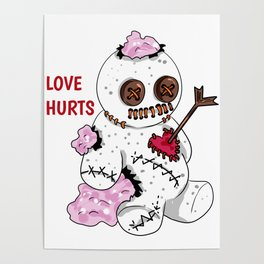 love hurts voodoo doll Divorce Break Up Poster