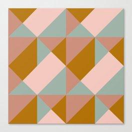 Modern Boho Geometric Pattern Canvas Print