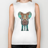 clockwork orange Biker Tanks featuring ElePHANT by Monika Strigel