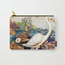 Koi & Egret Carry-All Pouch