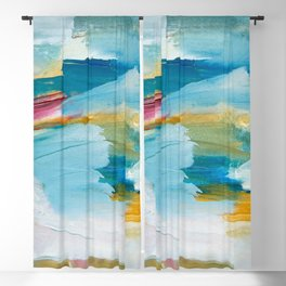 Abstract Oil Painting No. 55 Blackout Curtain
