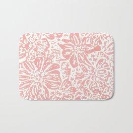 Marigold Lino Cut, Rose Pink Bath Mat