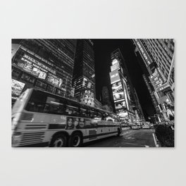 First time traveling in Times Square Canvas Print