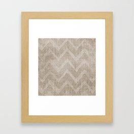 Chevron burlap (Hessian series 1 of 3) Framed Art Print