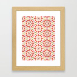 Persian Mosaic – Coral & Gold Palette Framed Art Print