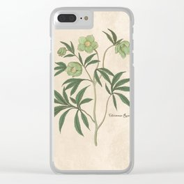The Christmas Rose Clear iPhone Case