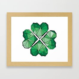 Geometrick lucky charm Framed Art Print