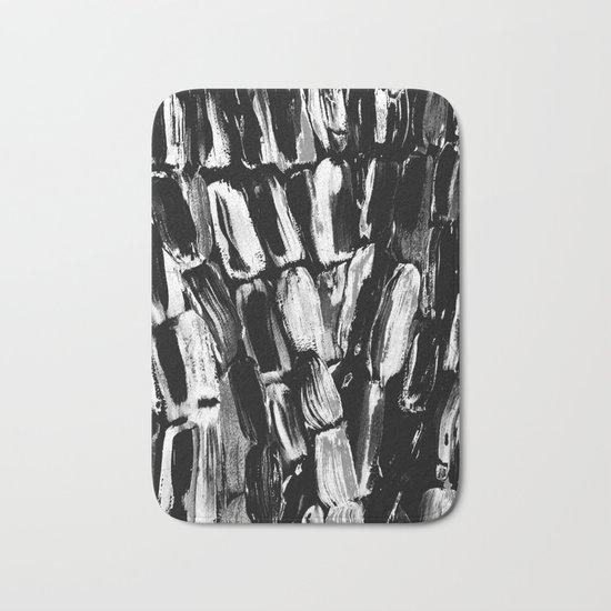 Silver Sugarcane Black and White Bath Mat