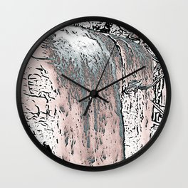 "series waterfall ""Cachoeira Grande"" IV Wall Clock"