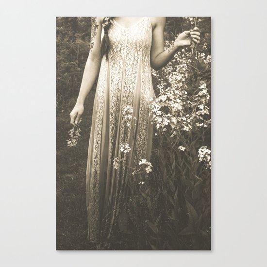 Flower Child 2 Black and White Canvas Print