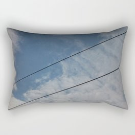clouds and wire, abstract, no.03 Rectangular Pillow