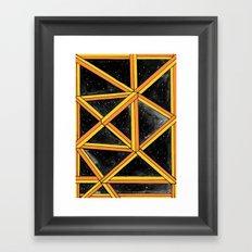 geo galaxy Framed Art Print