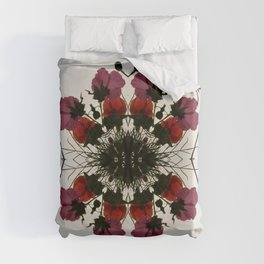 Pretty Mallows and Poppies Duvet Cover