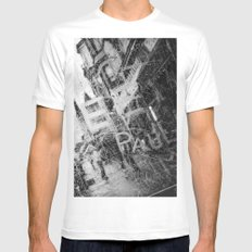 Take Shelter MEDIUM White Mens Fitted Tee