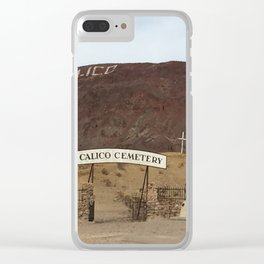 Calico Ghost Town Cemetery Clear iPhone Case