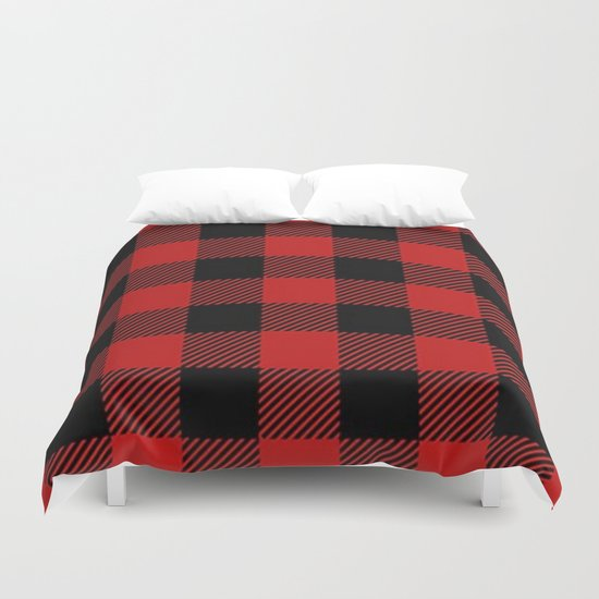 Western Country Woodland Christmas Cottage Primitive lumberjack Buffalo Plaid by chicelegantboutique