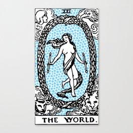 Modern Tarot Design - 21 The World Canvas Print