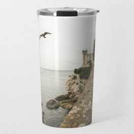 Flying on the castle Travel Mug