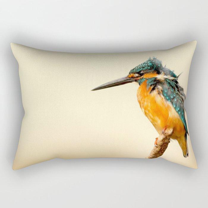 Kingfisher Bird Rectangular Pillow