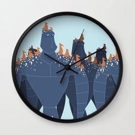 Robot Clutter Wall Clock