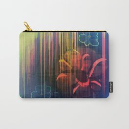 Floral Space Carry-All Pouch