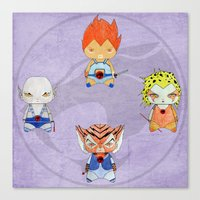 thundercats Canvas Prints featuring A Boy - A Girl - Thundercats by Christophe Chiozzi