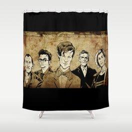 Doctor Who - Nine, Ten, Eleven, Twelve, and Thirteen Shower Curtain