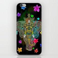 Elephant Zentangle Doodle Art  iPhone Skin