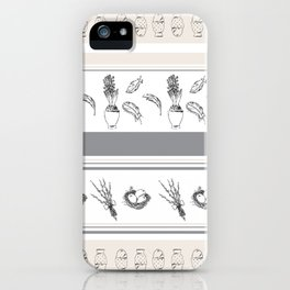 Lineal Bunnies iPhone Case