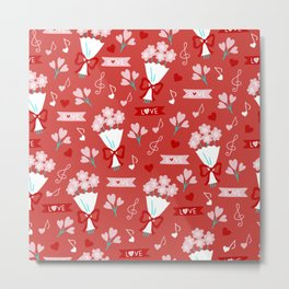Valentine's Day Love and Bouquets Metal Print