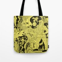 wizard Tote Bags featuring Wizard Dreams by Josh Ln