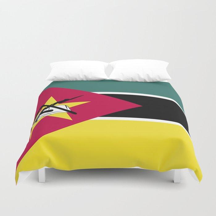 Mozambique flag emblem Duvet Cover by textures